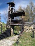 Fortificação de madeira em Havranok fotos de stock