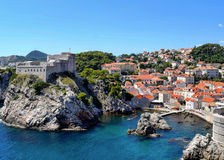 Fortificações de Dubrovnik Fotografia de Stock
