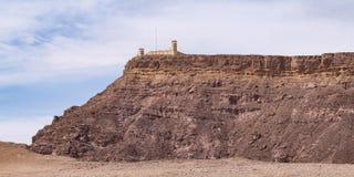 Fortification égyptienne de surveillance sur Israel Sinai Border images stock