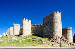 Fortification of Avila. Castile and Leon, Spain Stock Photos