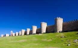 Fortification of Avila. Castile and Leon, Spain Stock Image
