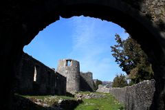 Fortification Besac. Montenegro Virpazar fortification Besac XV century historic Stock Photos
