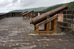 the fortification and cannons Royalty Free Stock Photography