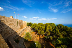 Fortification of Castillo de Gibralfaro in Malaga, Spain. Fortification of Castillo de Gibralfaro in Malaga, Costa del Sol, Andalusia, Spain royalty free stock photo