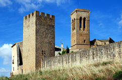 Fortification city Artajona Stock Photography