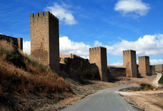 Fortification city Artajona. Fortification historic city Artajona in Spain royalty free stock image