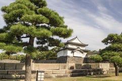 Fortification dans le château d'Osaka Photographie stock