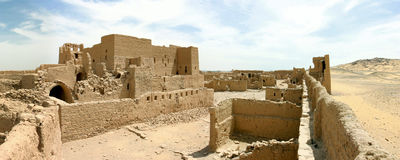 Fortification in the desert Royalty Free Stock Image