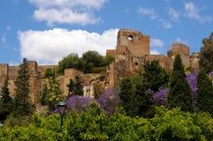 Fortification do Moorish em Málaga. imagem de stock royalty free