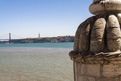 Fortification at Douro,Lisboa,Portugal. View of Lisboa in Portugal Stock Photography