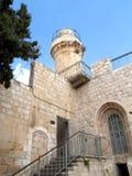 Fortification et tour dans la vieille ville sur le mont Sion Israe Image libre de droits