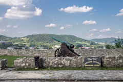 Trencin Castle Slovakia stock photography