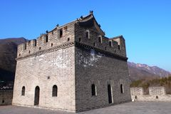 Fortification of the Great Chinese wall Stock Image