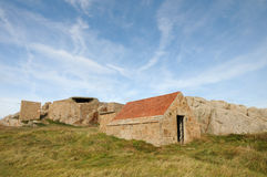 Fortification, Les Grandes Rocques, Guernsey Royalty Free Stock Photography