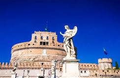 Fortification médiévale de saint Angelo à Rome, AIE Photographie stock