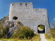 Fortification of main gate of Cachtice Castle Royalty Free Stock Photography