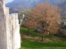 Fortification of medieval castle in Celje. In Slovenia Stock Images