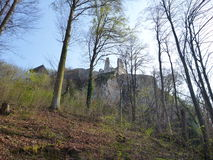 Fortification of medieval castle in Celje Royalty Free Stock Images