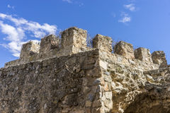 Fortification, medieval castle town of Consuegra in Toledo, Spai Royalty Free Stock Photo