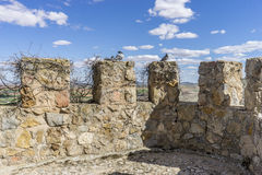 Fortification, medieval castle town of Consuegra in Toledo, Spai Royalty Free Stock Photography