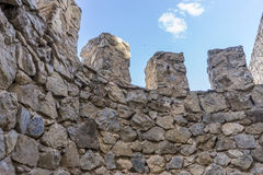 Fortification, medieval castle town of Consuegra in Toledo, Spai Royalty Free Stock Photos