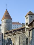 Fortification in medieval Tallinn Stock Photography