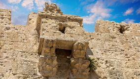 Fortification medieval walls of Jerusalem stock video
