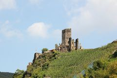Fortification Metternich Beilstein, Rhénanie-Palatinat, Allemagne Image stock