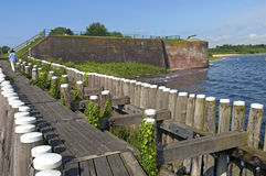 Fortification the Napoleonic ramparts on Lake Veere Royalty Free Stock Photography