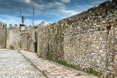 Fortification at the port of Nafpaktos town, Greece Stock Image