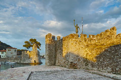 Fortification at the port of Nafpaktos town Stock Images