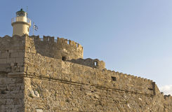Fortification at Rhodes Greece Stock Photo
