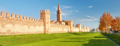Fortification of small town in north of Italy Montagnana stock photo