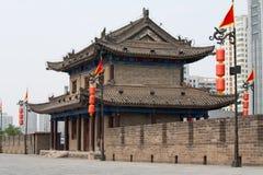 Fortification sur le mur de ville antique dans XI le ` Photo stock