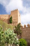 Fortification tower at Almeria castle Royalty Free Stock Photos