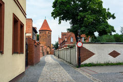 Fortification tower in Lebork, Poland. Stock Image