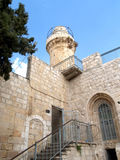Fortification and tower in the old city on the Mount Zion. Israe Royalty Free Stock Image