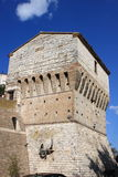 Fortification tower in Sirolo Royalty Free Stock Images
