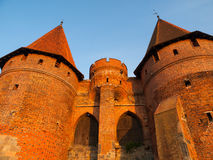 Fortification towers in Malbork Stock Images