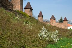 Fortification town Nymburk Stock Image