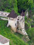 Fortification of the Trencin castle, Slovakia royalty free stock image