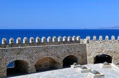 Fortification: Venetian castle (Koules). Venetian fortress in the Island of Crete, Greece Stock Image
