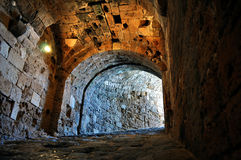 Fortification: Venetian castle (Koules). Interior of Venetian fortress in the Island of Crete, Greece Stock Images