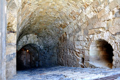 Fortification: Venetian castle (Koules). Interior of Venetian fortress in the Island of Crete, Greece Royalty Free Stock Photography
