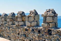 Fortification: Venetian castle (Koules). Travel Europe: Venetian fortress in the Island of Crete, Greece Stock Photos