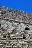 Fortification: Venetian castle (Koules), in Crete. Travel Europe: Detail of Venetian fortress wall in the Island of Crete, Greece Royalty Free Stock Photo