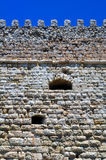 Fortification: Venetian castle (Koules), in Crete. Detail of medieval construction: Venetian fortress in the Island of Crete, Greece Royalty Free Stock Images