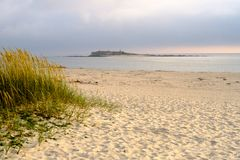 Fortification. View from the beach in Caminha, Portugal stock images