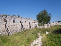 Fortification wall at the Castle of Cachtice Stock Images