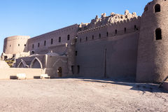 Fortification walls of ancient citadel of Bam Royalty Free Stock Image